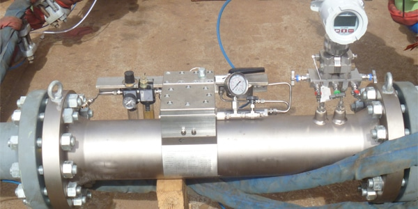 Adjusta-Cone Gas Flow meter in use